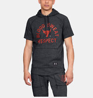 Under Armour Project Rock Blood Sweat Respect Sizes S M L Grey Hoodie Black