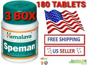 NEW FRESH 3 BOX 180 TABLETS Himalaya Speman OFFICIALLY  WITH DOCUMENTS EXP 2023