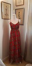 Banana Republic Womens Bold Medallion Maxi Dress Size 4 Coral Spring Summer