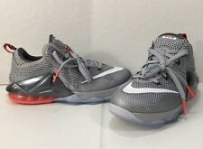 Nike 744547-014 Youth Lebron James X11 Low  Wolf Gray Hot Lava SZ US 6Y