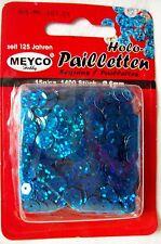 Pailletten holo blau - ca. 1400 Stück (Grpr. 7,20€/100g)