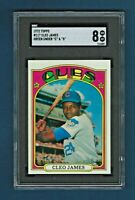 "1972 Topps #117 Cleo James RC Chicago Cubs Green ""C"" ""S"" variation - NM-MT SGC 8"