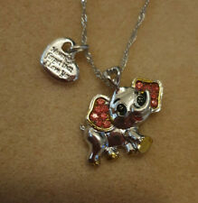 ELEPHANT NECKLACE, WITH HEART CHRISTMAS, BIRTHDAY AND MORE.
