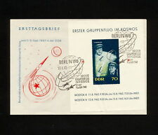 (RUCO 351)  Germany DDR 1962 FDC Space spaceship Rocket Vostok 3, 4 Mission