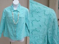 Appleseed's NEW cotton eyelet lace cutwork jacket plus size 1x SUMMER SPRING top