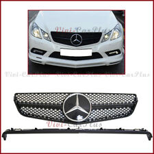 Fit 10 11 12 13 BENZ W207 C207 E-Coupe 2Door Glossy Black DTR Front Guard Grille