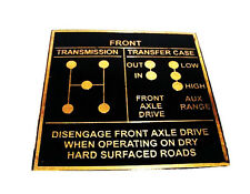BRAND NEW JEEP WILLYS G503 FORD GPW GPA SHIFT PATTERN BRASS DATA PLATE@SF