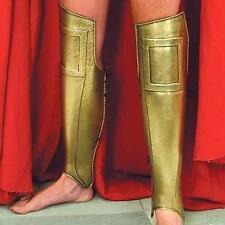 300 SPARTANS Greek Hoplite Warrior Steel Brass GREAVES LEG SHINGUARD ARMOR New