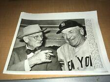 Casey Stengel Bill McKechnie New York Yankees 1960 AP Wire Photo