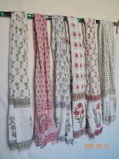 50 pcs wholesale lot pure Cotton Hand Block Print women wear scarf Sarong Stole