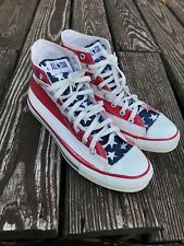 Vintage Converse Chuck Taylor Made In Usa American Flag Mens Size 8