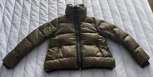 Lululemon Cloudscape Jacket Goose Down Puffer Coat Dark Olive 4 Retail $248 EUC