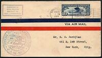 544 - Stati Uniti - Timbro Special Flight Lindbergh Day su busta, 15/08/1927