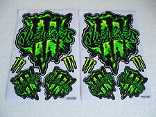 2x Sticker Bomb Bogen Aufkleber Motorradsport Motorsport Motorradcross Racing GT