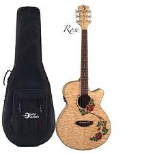 Luna FLO RSE Flora Rose Acoustic/Electric Guitar CASE,SHIRT,STAND,TUNER ShipsNow