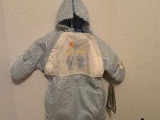 Snowsuit Tidykins 3-6 Months Unisex Quilted Blue Checked Sunbonnet Kids Mittens