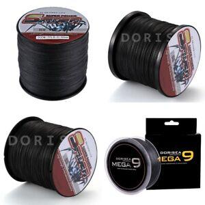 Spider 100M-2000M 10LB-300LB Black 100% PE Dyneema Braided Fishing line