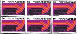 1970 Australia Standard Gauge Rail Stamps 6x 5c Brisbane-Sydney-Melbourne-Perth