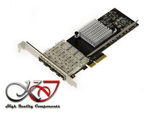 Card Pcie 10 100 1000 Quad Gigabit Ethernet Chipset I350AM4 - SFP