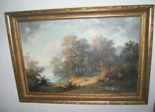 Um 1820 Zwei Runde Dekorative Landschaften In Originalrahmen Paysage Antik Art