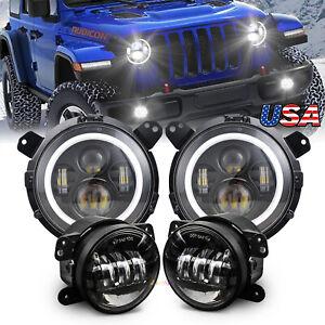 2018-2021 for Jeep Wrangler JL Gladiator Rubicon Led Headlight Fog Lamp Combo Ki