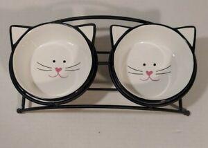 Y YHY Ceramic Raised Cat Food And Water Bowl Set