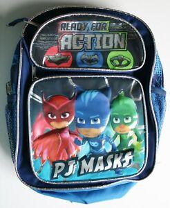 PJ Masks Catboy Gekko Owlette Toddler Mini 10 inch Backpack - Ready For Action