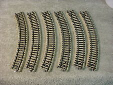 Lot of six Marklin HO Scale 3 rail M Track #5100 Curved sections