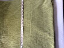 Sage green textured finish 2-way stretch fabric remnant 436