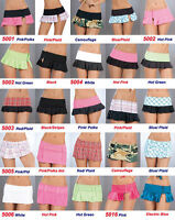 Wholesale Lot 24 Rave Skirts Micro Mini Gogo stripper Dancer Sexy Roller S M L