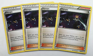 4x OLYMPIA 66/83 Pokemon TCG : XY Generations Trainer Supporter - PLAYSET of 4
