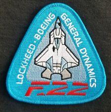 USAF LOCKHEED  BOEING GENERAL DYNAMICS F-22 RAPTOR Fighter Jet Military Patch
