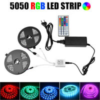 5M 10M LED Strip Waterproof Light Tape RGB SMD 5050 44Key Rmote 12V Power Supply