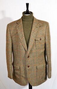 IMMACULATE PURE WOOL CHECK TWEED NORFOLK  / SHOOTNG JACKET 44 L
