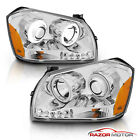 2005 - 2007 Dodge Magnum Dual Twin Halo Projector LED Chrome Headlights Lamps  for sale