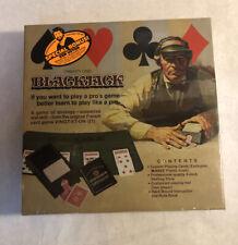 Vintage Gambling Set Black Jack-New Factory Sealed +Bonus