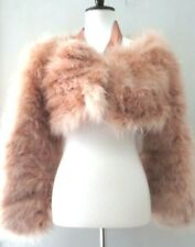 1dfb400a5d7 Gucci By Tom Ford Marabou Feather Beiges Color Long Sleeve Jacket Coat Size  42