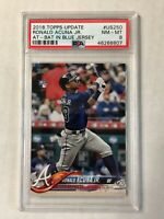 RONALD ACUNA JR 2018 Topps Update BLUE JERSEY SP RC #US250! PSA NM-MT 8! INVEST