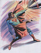 Steve Rude Signed Original DC Comics Super Hero Art Sketch ~ Superman