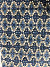 Charvet 100% Silk Tie Multi-Color:Blue, Grey & White Geometric (BG2)