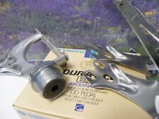 Shimano Dura Ace Ex DD model pedal set with straps and toe clips