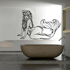 Wall Decal Sticker Vinyl Mermaid Star Tail Cartoon Fish Alga Ocean Sea M813