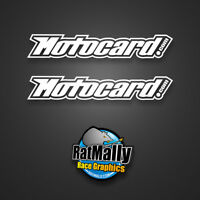 MOTOCARD WINTER TEST GRAPHICS DECALS STICKERS - SMALL PACK (RatMally)