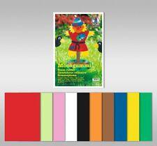 URSUS Moosgummi 2mm 20x30cm 10 Blatt - 10 Farben sortiert