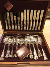 New Debenhams Classics Kings Silver Plated Stainless Steel 44 Piece Cutlery Set