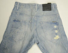 EUC - Mens G-Star Raw 'ARC LOOSE TAPERED' Shiro Trash Destroy Jeans Size W31 L34