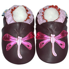 First Walk Crib Girl Shoe soft Sole Leather Baby Infant Kid Girl Dragonfly 6-12M