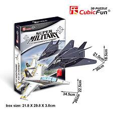 New F-117 Nighthawk & F/A-18 Hornet 3D Model Plane Jigsaw Puzzle 40 Piece P629H