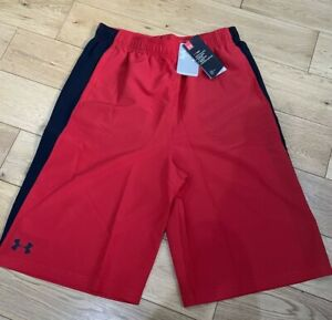 "Under Armour Boys Heat Guard Impulse Shorts -Red / Black, Size YXL (W28-29"") NEW"