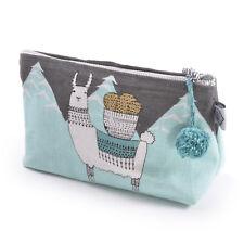 Mountain Llama - Small Cosmetics Make Up Bag - Llamarama By Danica Studios